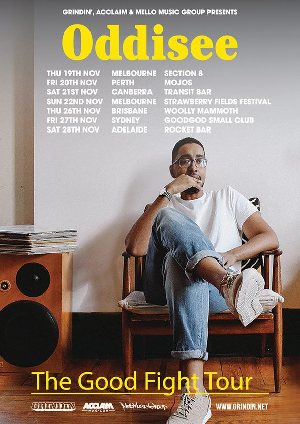 "ODDISEE ""THE GOOD FIGHT"" AUSTRALIA ALBUM LAUNCH TOUR"