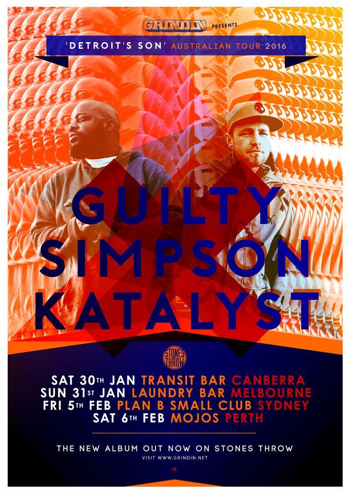 """GUILTY SIMPSON & KATALYST """"DETROIT'S SON"""" AUSTRALIA ALBUM LAUNCH TOUR"""