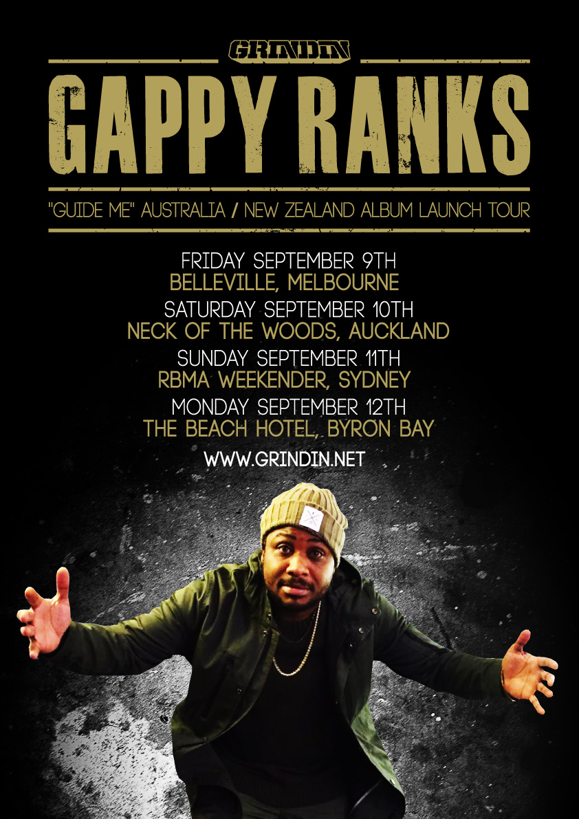 "GAPPY RANKS ""GUIDE ME"" AUSTRALIA / NEW ZEALAND ALBUM LAUNCH TOUR"