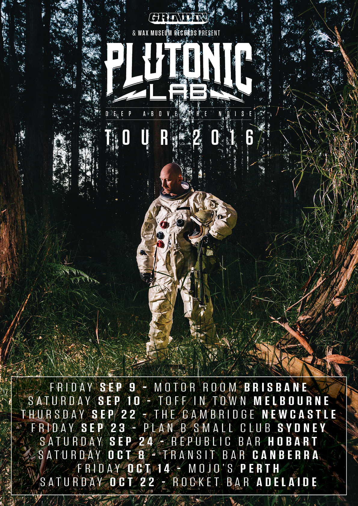 """PLUTONIC LAB """"DEEP ABOVE THE NOISE"""" ALBUM LAUNCH TOUR"""