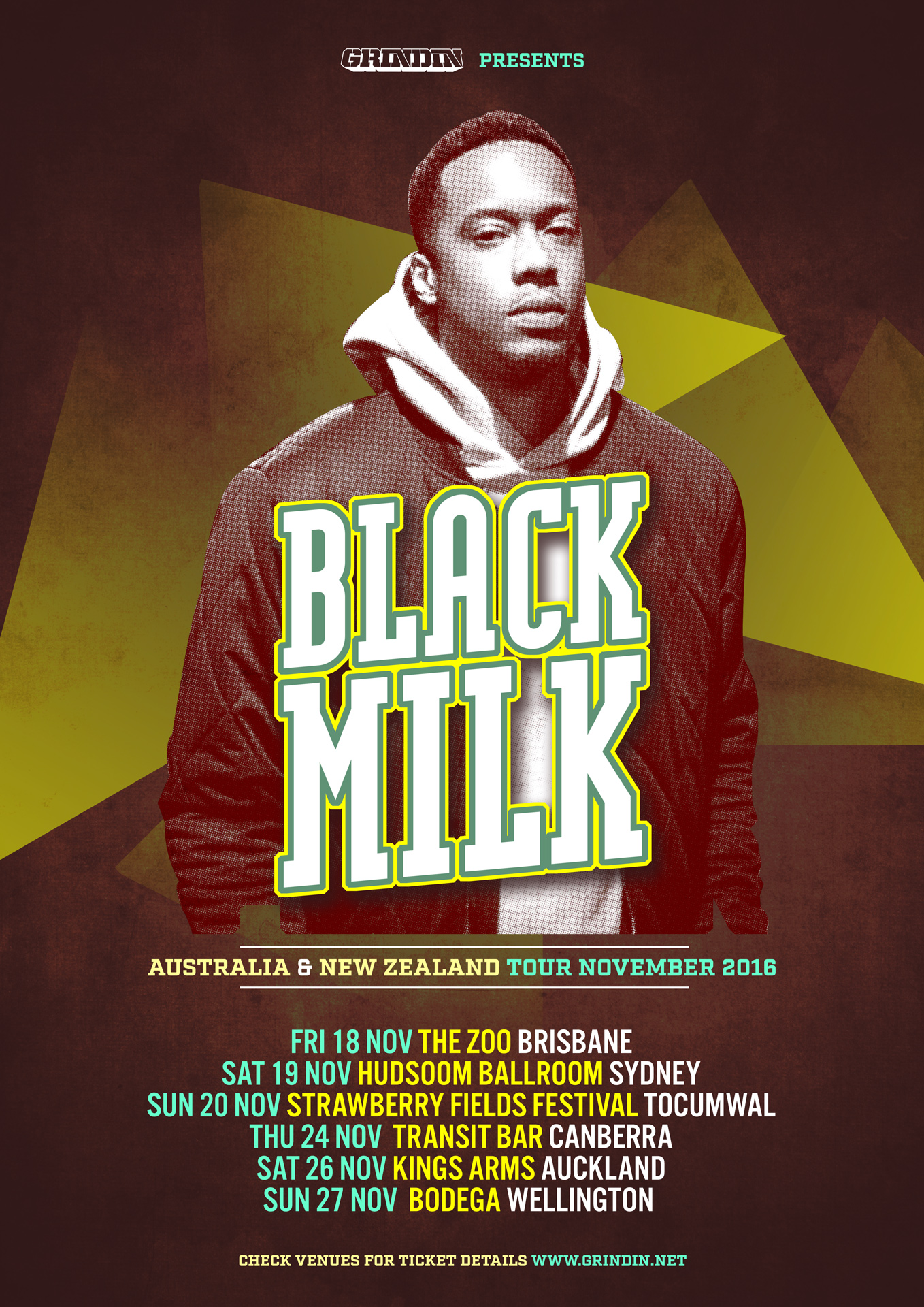 BLACK MILK AUSTRALIA / NEW ZEALAND TOUR