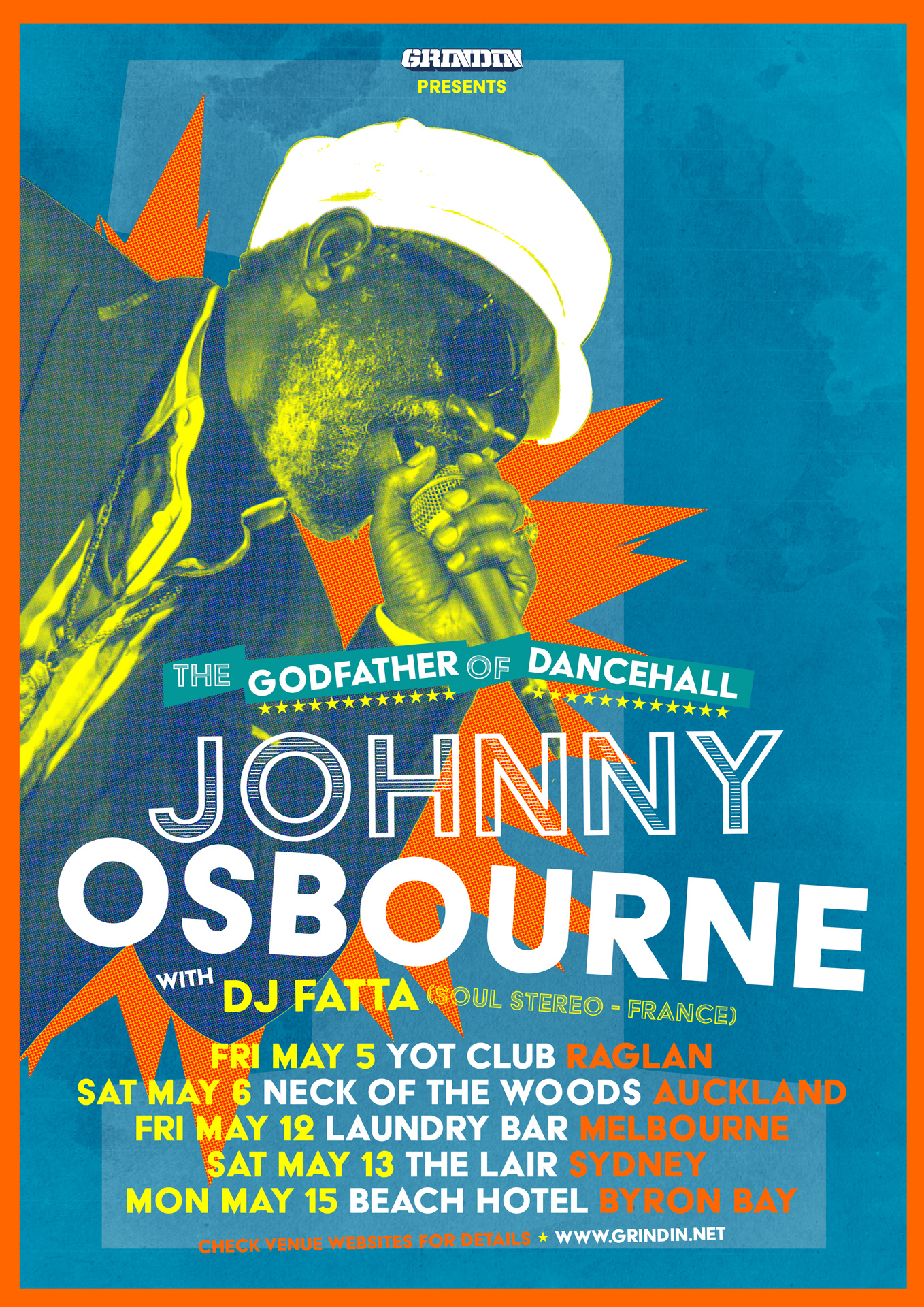 JOHNNY OSBOURNE AUSTRALIA / NEW ZEALAND TOUR