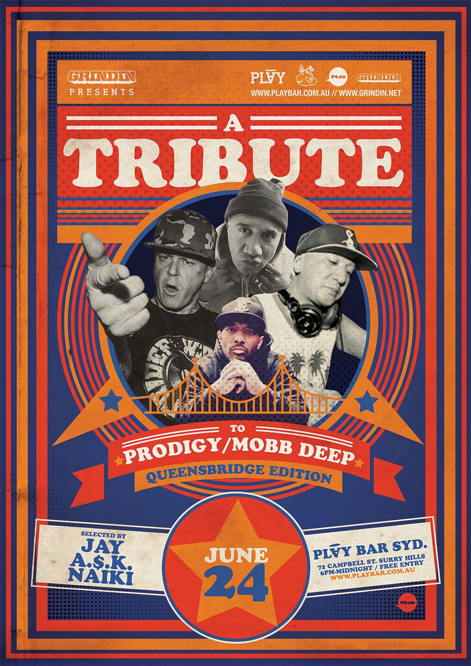 A TRIBUTE TO PRODIGY & MOBB DEEP – QUEENSBRIDGE EDITION @ PLAY BAR, SYDNEY